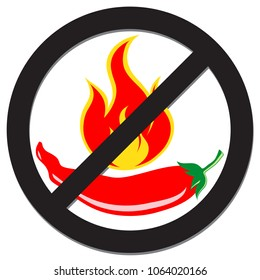 prohibition sign spicy pepper food nw