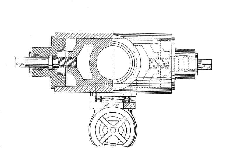 px Cameron Ram type Blowout Preventer    plan view