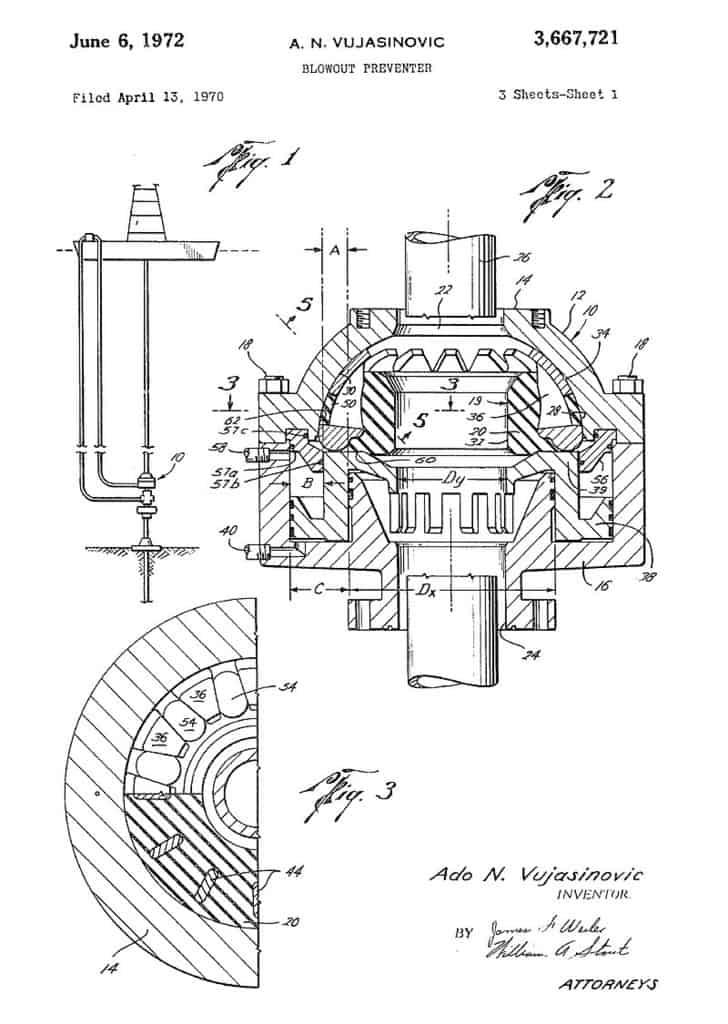 px Original Shaffer Spherical BOP Patent