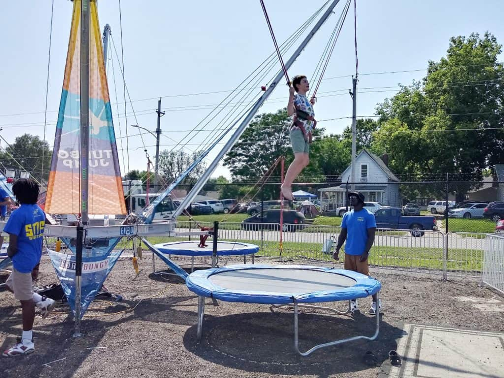 Bungee Jump at Iowa State Fair