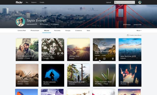 Flickr Web Album