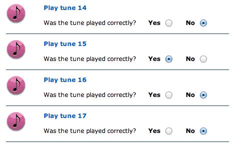 NIH Distorted Tunes Tone Deaf Test