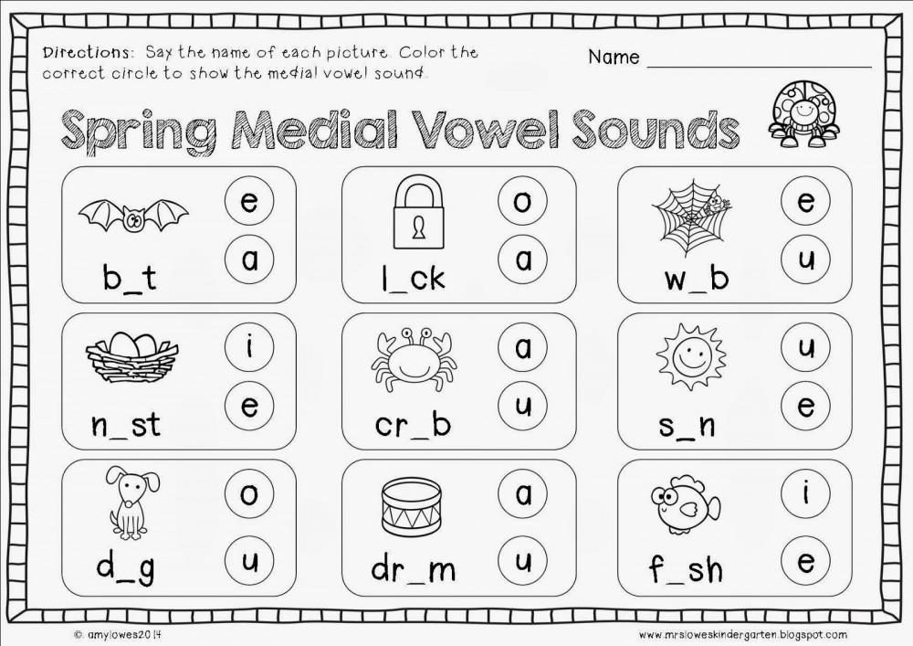 Spring Medial Vowel Sounds
