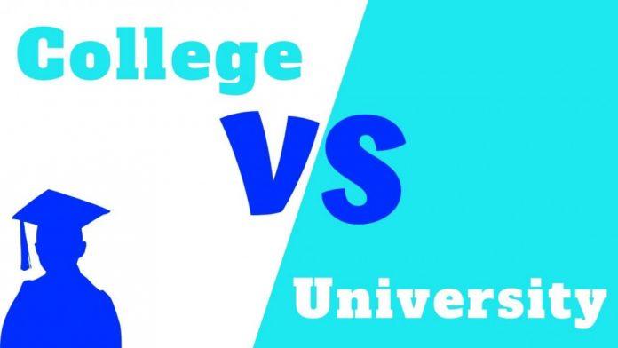 University va College khac nhau the nao
