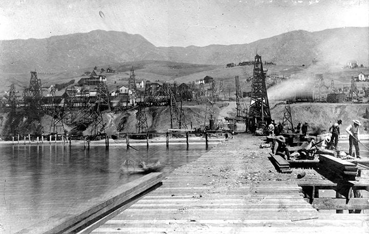 california treadwell wharf summerland oil field santa barbara county  us geological survey