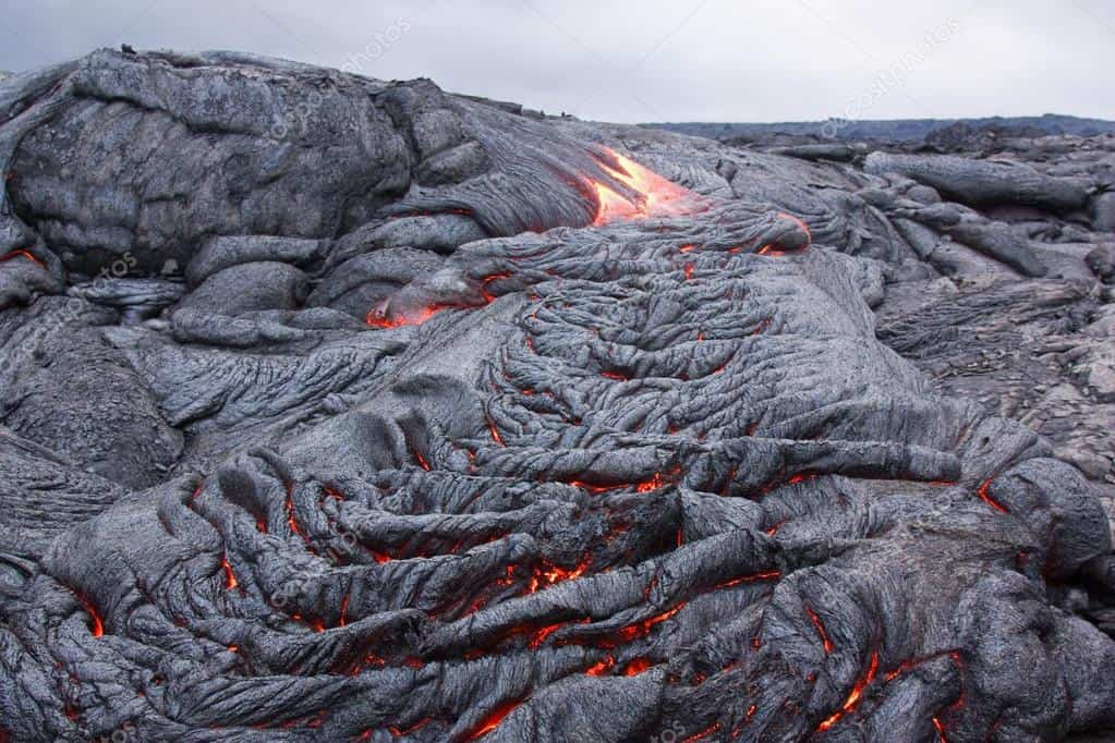 depositphotos  stock photo basaltic lava flow solidifying slowly