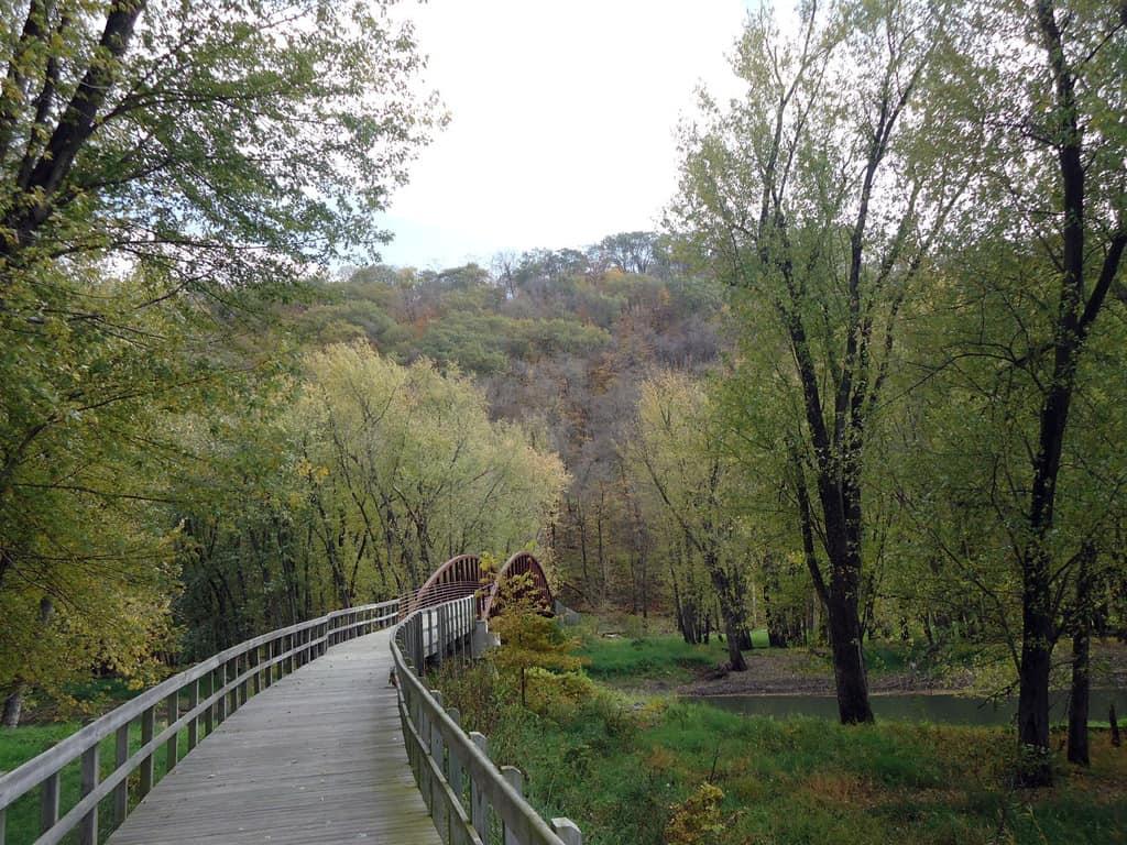 iowa effigyimounds bridge on the biking trail
