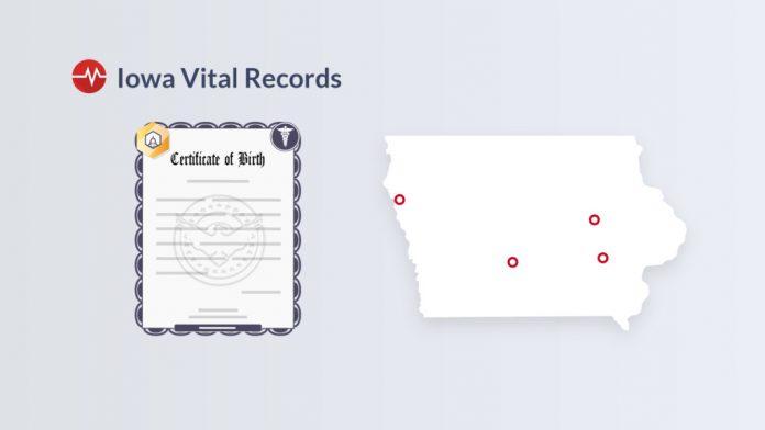 iowa vital records offices