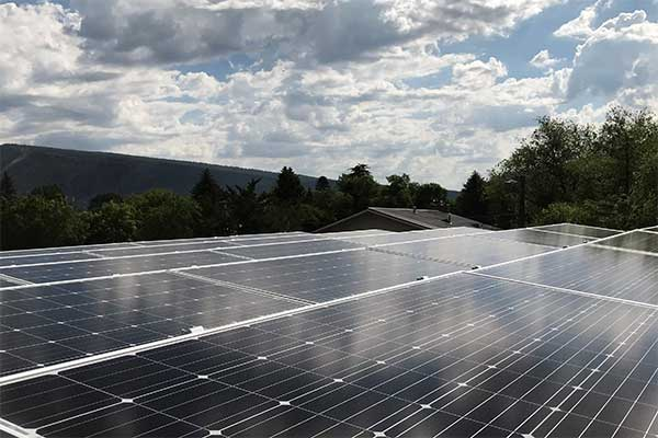 solar panels cloud cover