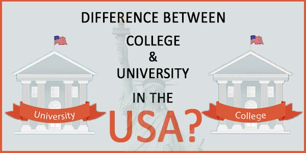 what is the difference between college and university in the usa