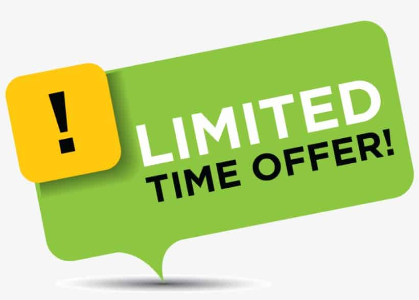 limited time offer graphic design