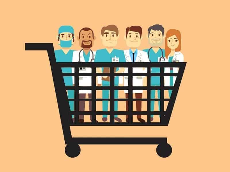 dt  hospital doctors shopping cart